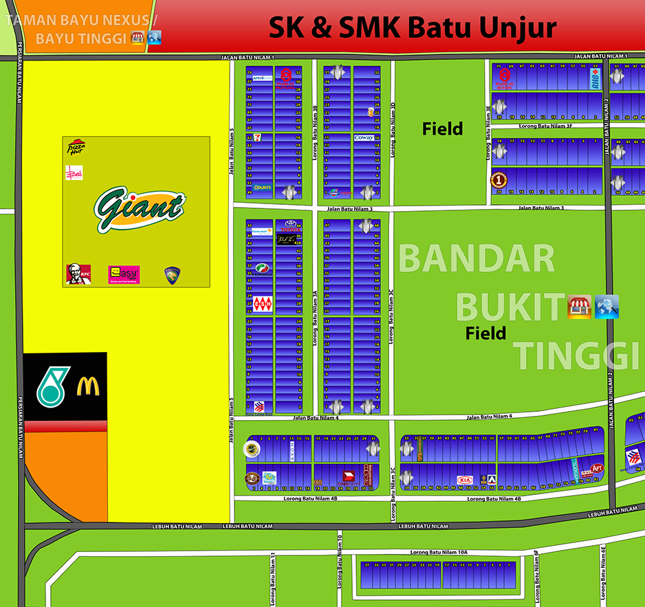 Map-House,Apartment,Shop Office,Corporate Tower,Mall,Hotel,Hypermarket